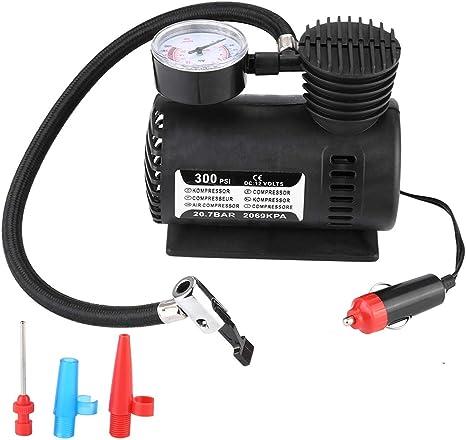 12 V portable Mini Pompe Compresseur Air Avec Jauge voiture 300 PSI Pneu Gonfleur