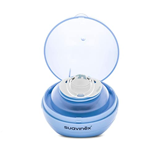 Suavinex - Esterilizador de chupetes portátil de luz Ultravioleta Uv. Esteriliza en 3 Minutos. con USB o con Pilas. elimina el 99% de los Gérmenes. ...