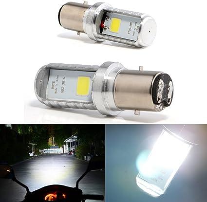 Bulbos de Grandview BA20D LED bulbos de la linterna de la motocicleta de la MAZORCA LED alta//baja del haz H616 bulbos de la linterna delantera de la motocicleta BA20D de 2pcs blancos DC 9-80V