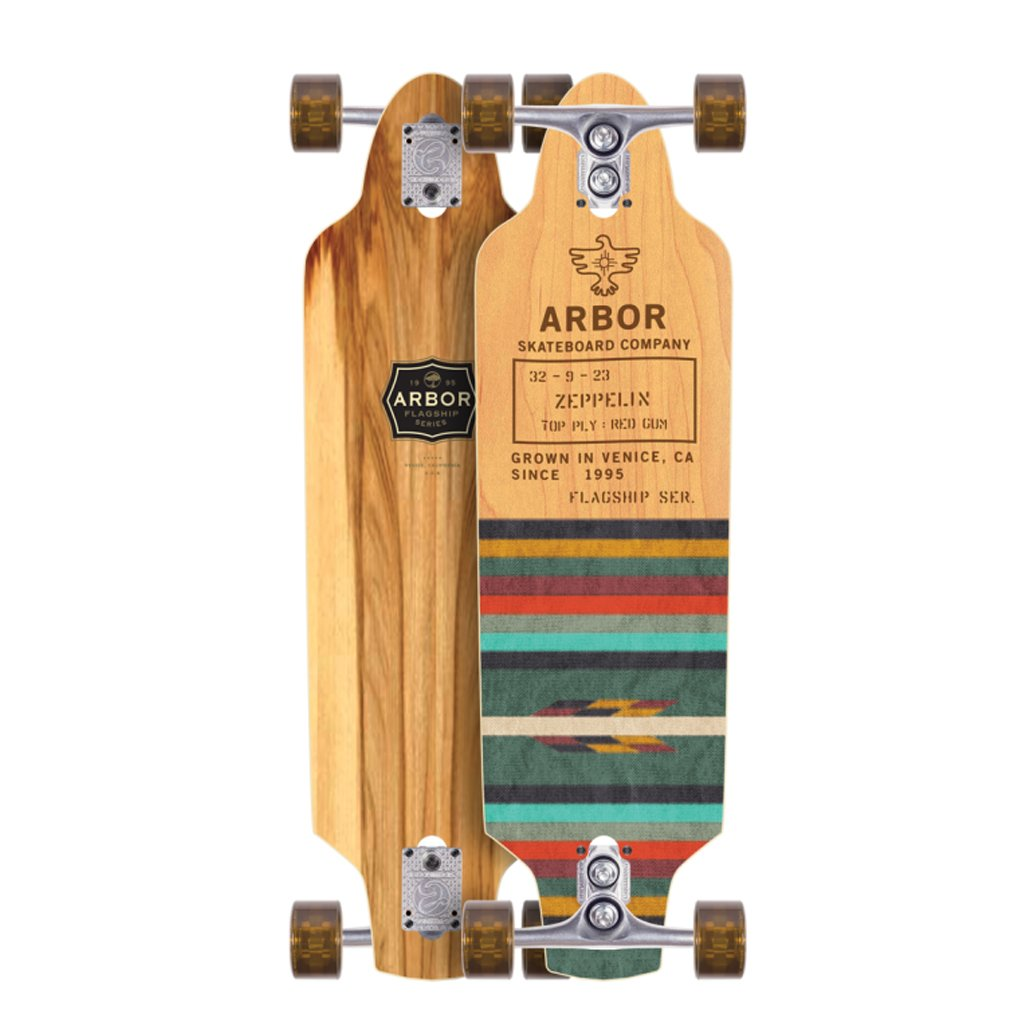Arbor Zeppelin Flagship Complete Skateboard, Nocturnal, 32'' L x 9'' W x 23'' WB
