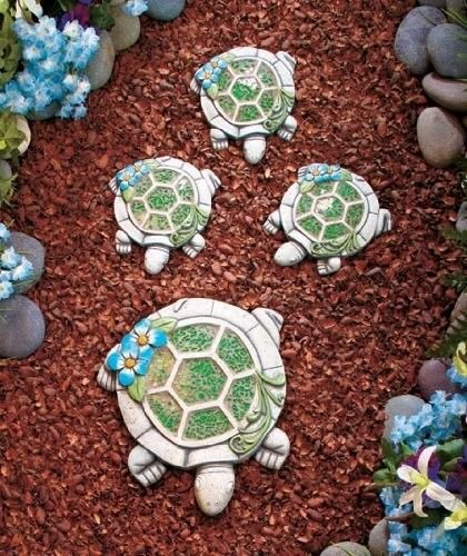 Amazoncom River Rock Stepping Stones Set Of 3 Outdoor Decorative – Garden Decorative Stones