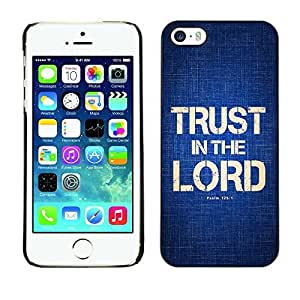YOYO Slim PC / Aluminium Case Cover Armor Shell Portection //TRUST IN THE LORD - PSALM 125:1 //Apple Iphone 5 / 5S