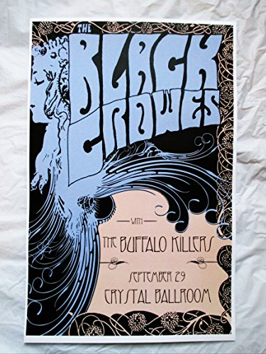 2007 the Black Crowes Buffalo Killers Concert (2007 Concert Poster)