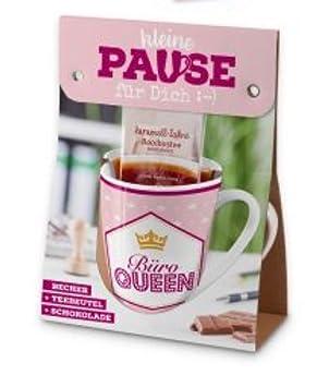 La Vida Becher Pause Fur Dich Buro Queen 960692 Amazon De Kuche