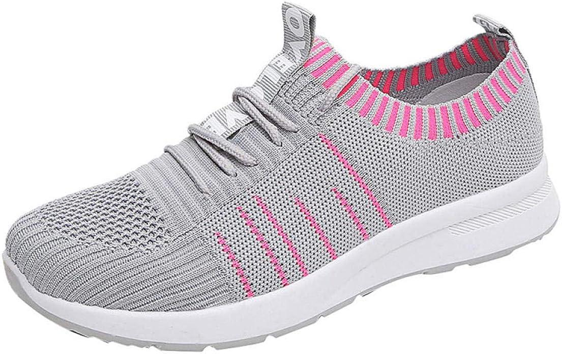 Zapatillas de Deporte de Mujer de Fondo Suave Calzado Deportivo Casual de Baile Deportivo Telas Tejidas Zapatillas de Malla Tejidas voladoras Corriendo@37_922 Gris: Amazon.es: Zapatos y complementos