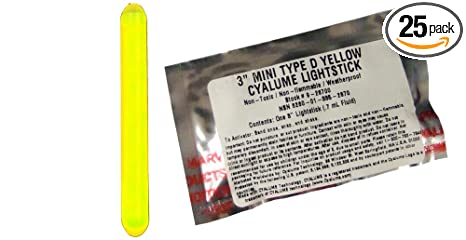 Amazon.com: Cyalume Mini chemlight Luz Stick, de grado ...