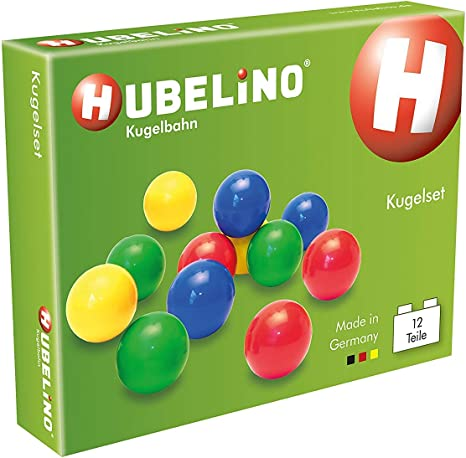 Hubelino Marble Run Set of 12 Marbles Made in Germany