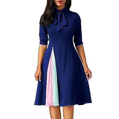 online store ebdf0 a73e4 Vestito da Donna Vestito Casual Vestito a Mezza Manica ...