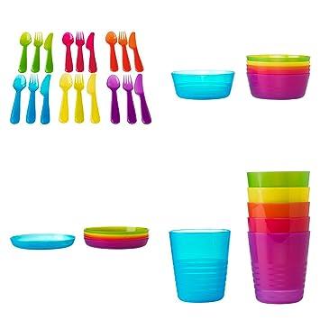ikea ensemble de vaisselle pour enfant ensemble de couverts 18 pices kalas couleurs assorties x - Ikea Vaisselle Jetable