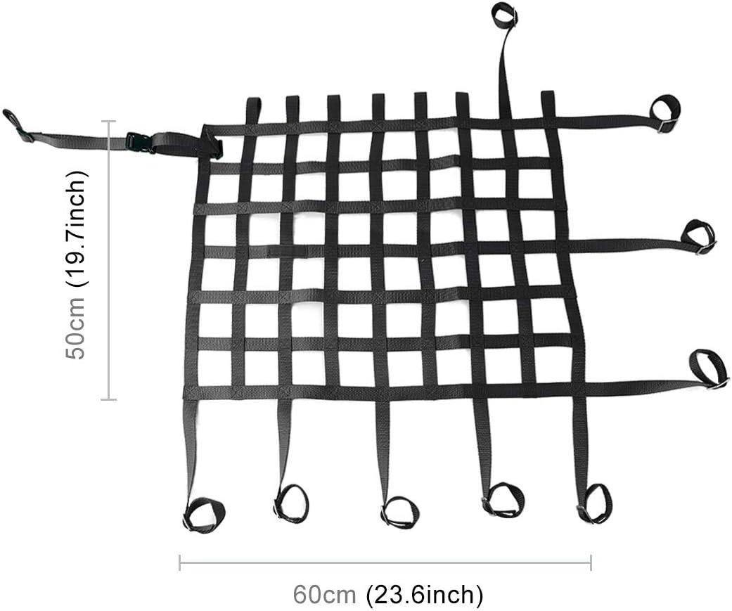 CAR L universal de nylon Ventana neto de coches Coche de la reuni/ón que compite con seguridad de colisi/ón de malla Color : Red tama/ño: 60 x 50 cm Negro