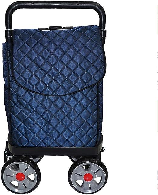 Large Capacity Light Weight Wheeled Shopping Trolley Push Cart Bag Wheels