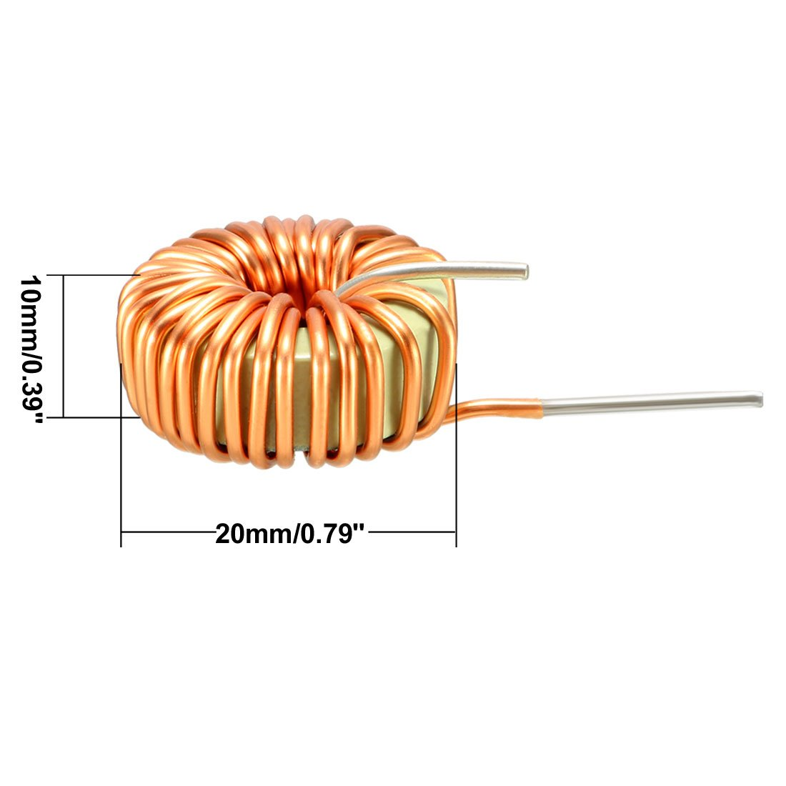 Uxcell 1pcs Horizontal Toroid Magnetic Inductor Monolayer Wire Wind Wiring Diagram Wound 15mh 5a Inductance Coil A18061100ux0017