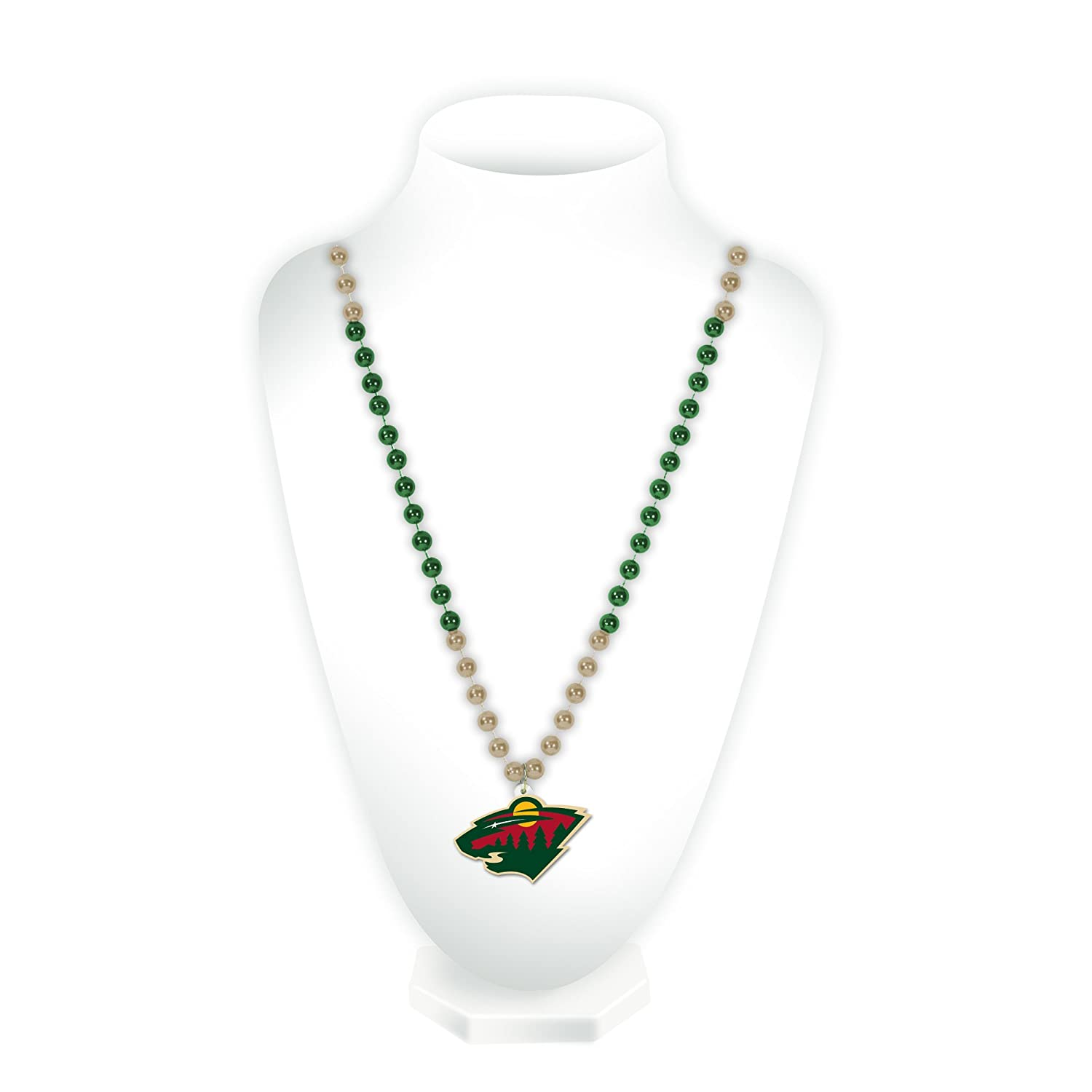 Rico Industries NHL Minnesota Wild Beads with Medallion 19 Green