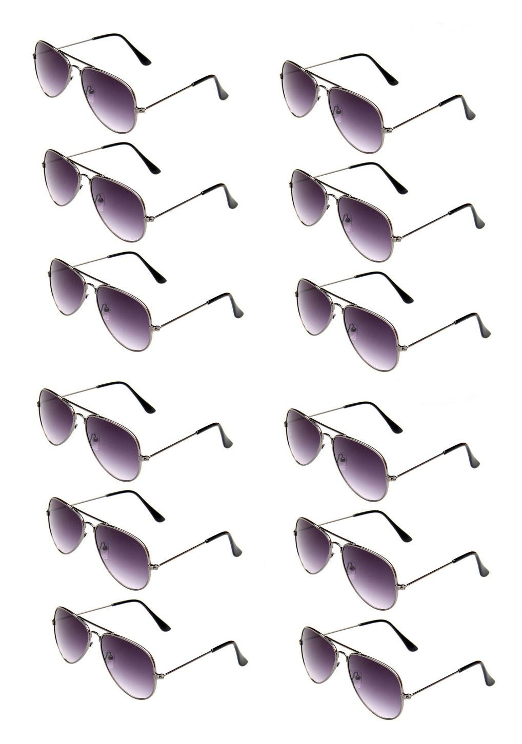 WODISON Classic Kids Aviator Sunglasses Bulk Metal Frame Children Party Eyeglasses 12 Packs by WODISON