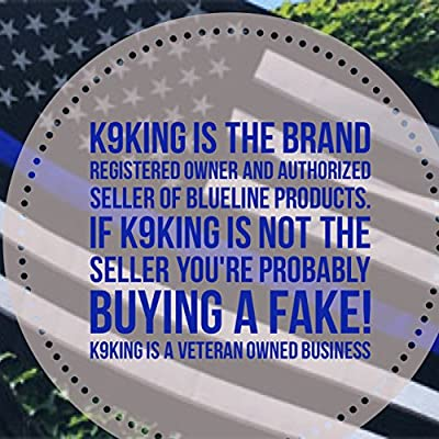 K9King Punisher Skull 5.5 x 4 Inch Tattered Subdued Us Flag Reflective Decal with Thin Blue Line: Garden & Outdoor