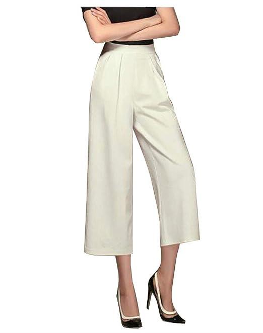 Donna Pantalone Larghi Estivi 34 Pantaloni Fashion Sciolto Casual