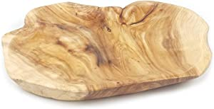 Wood Fruit Snack Dish Hand-Carved Candy Dish Natural Handmade Wooden Serving Tray Wood Root Carved Dish Fruit Bowl 12.5