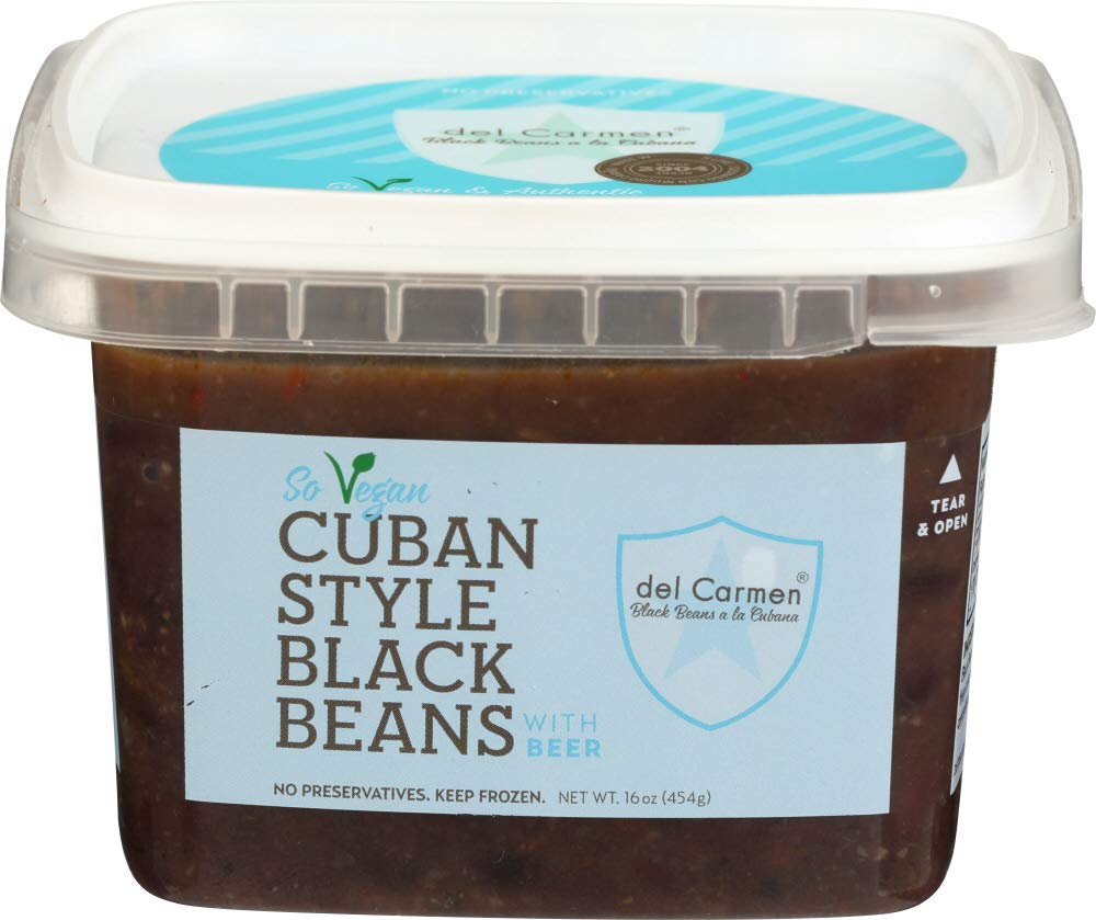del Carmen Cuban Style Black Beans with Beer, 16 oz. (Pack of 12)