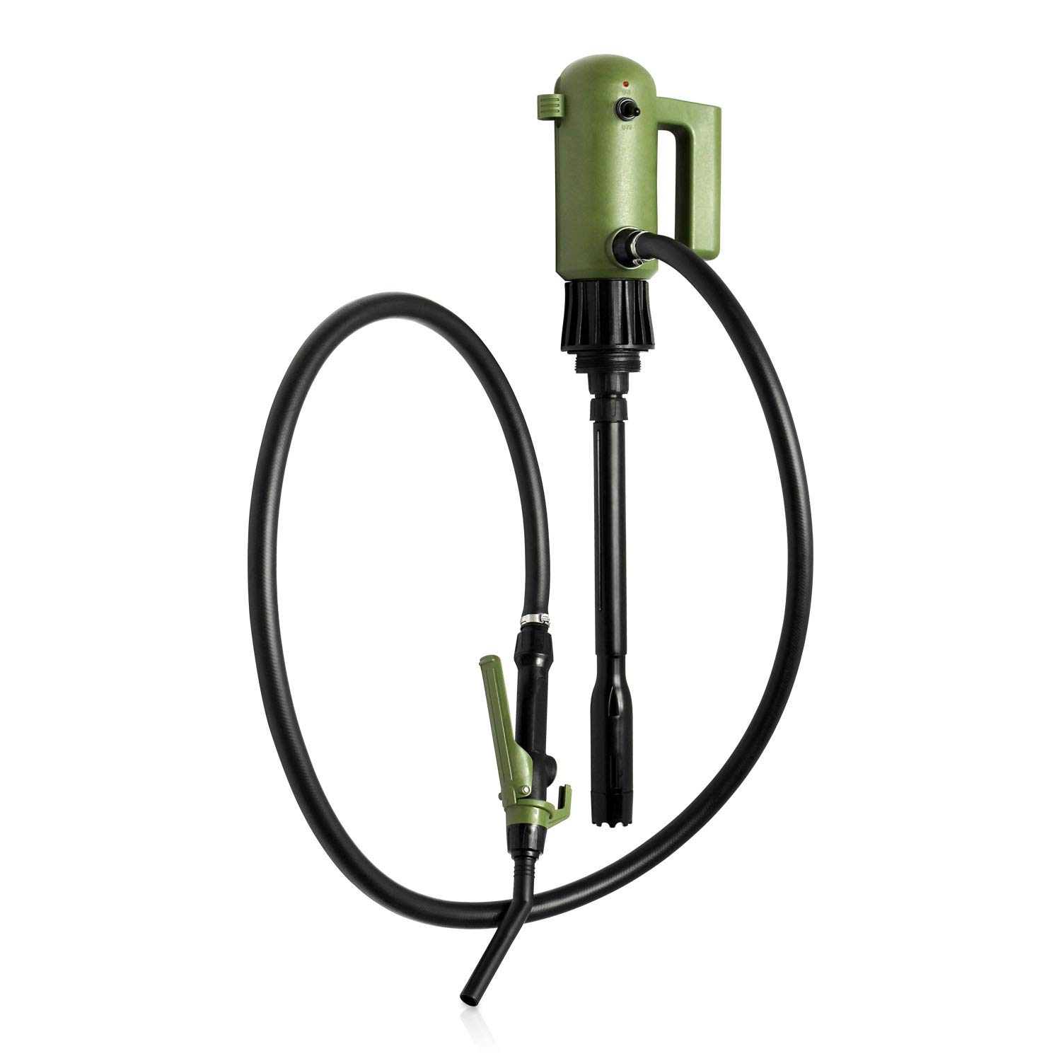 1st Introducing Electric Pail Pump with Lid (fit Most Pail Container) for Water Gasoline Diesel DEF ADBlue w/ 74 inch Long Heavy Duty Hose up to 4.5 GPM