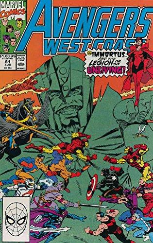 Avengers West Coast #61 VG ; Marvel comic book