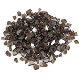 Stanbroil 10-Pound Fire Glass - 1/4 inch Reflective Tempered Fire Glass for Fireplace Fire Pit, Bronze Reflective