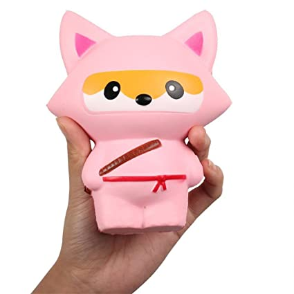 Amazon.com : Youngate Squishies Fox Ninja Slow Rising Jumbo ...