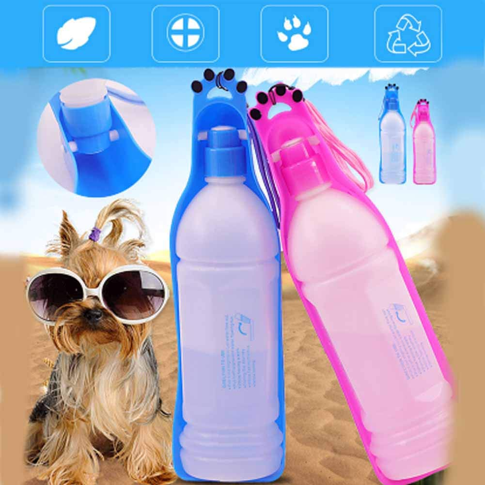 XIAOAN Pet Drinker Water Bottles Pets Out 350ml Cats and Dogs Drinking Water Dispenser Water Cup Pets Drinking Water Pet Products,Blue