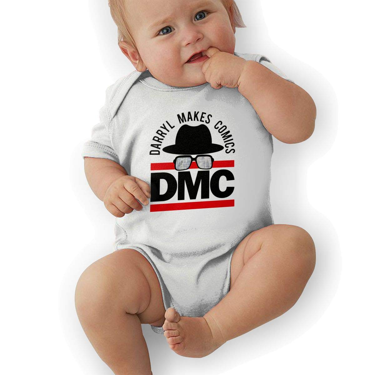 LuckyTagy Run Dmc Unisex Particular Boys /& Girls Romper Baby BoyPlay Suit White