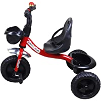 Maanit Baby Kids Trike Tri Cycle with Foot Rest and Front & Back Basket Tokri