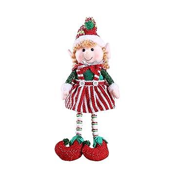 Toyvian Weihnachtselfen Weihnachtspuppe Elf Puppe Weihnachten ...