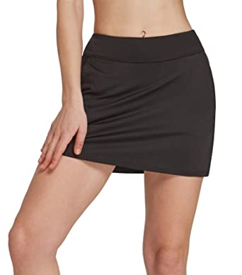 2f8ffde985 Amazon.com: Womens Skort Built in Skirts for Golf Tennis Workout Casual Athleta  Wear with Pockets: Clothing