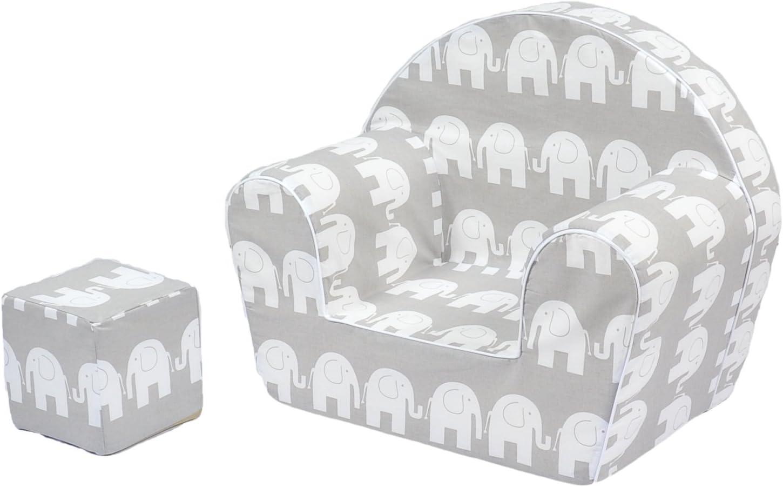 MuseHouse Sillón silla para niños   Sofá Taburete de asiento para niños   Asientos de sofá de alta calidad para niños pequeños y niños   Cubo de Juego Gratis (0-4 años)