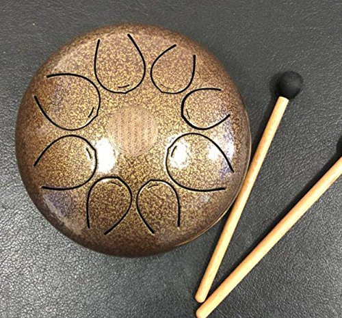 CVNC 5 Inch 5 Note Steel Tongue Percussion Drum Multi Brown - Color Kit Drum