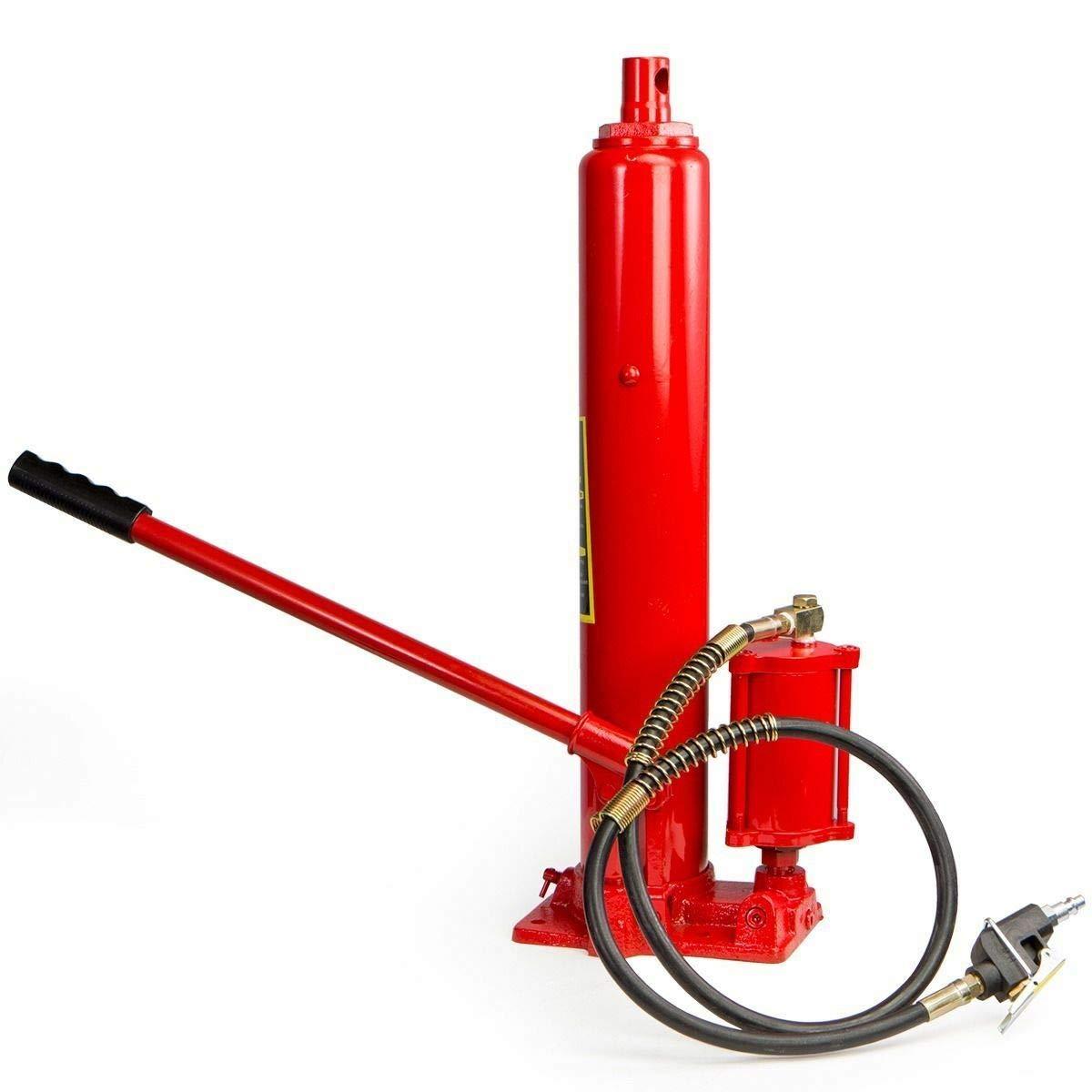 9TRADING 2 in1 8 ton air Manual Hydraulic Ram Jack Pump Engine Lift Hoist Cherry Picker by 9TRADING