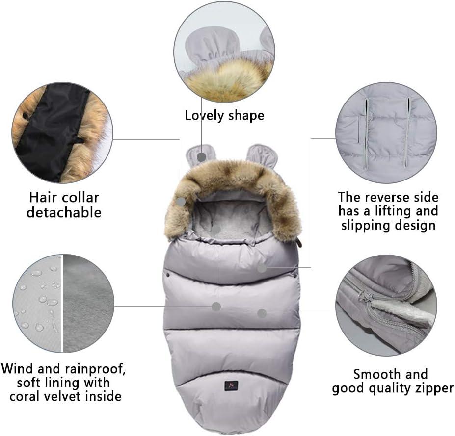 Drizzle Mantas envolventes Interior Franela al aire libre anti-patada saco de dormir del beb/é impermeable c/álido reci/én nacido ni/ña 0-36 meses edred/ón del beb/é Red