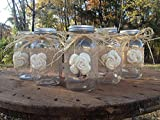 Best Mason Jar With Burlap Tops - Set of 5 Rustic Mason Jars with Sola Review