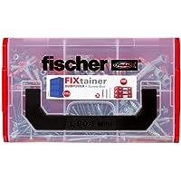 fischer 536162 DUOPOWER Wallplug with Screws, Red/Grey/Metal