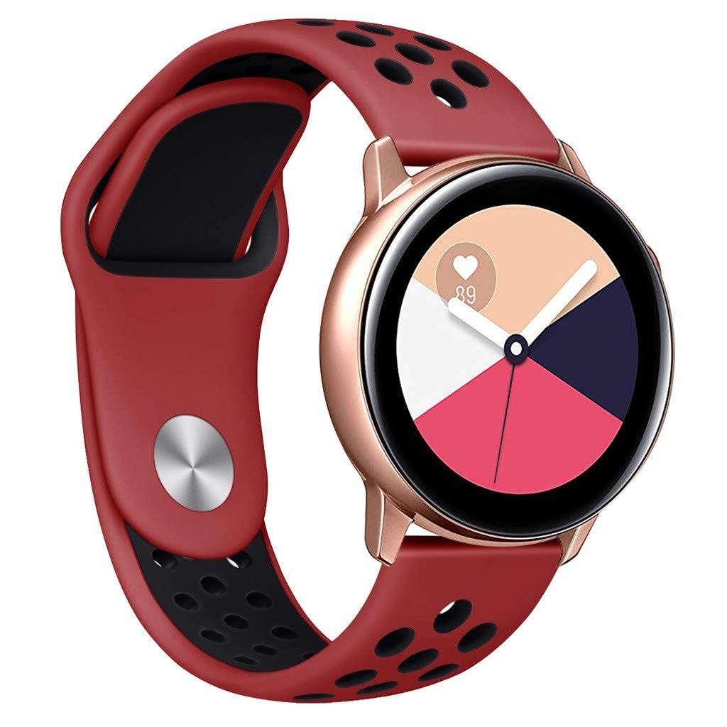 Choosebuy for Samsung Galaxy Watch Active Small Silicone Replacement Band Wrist Strap (Red)