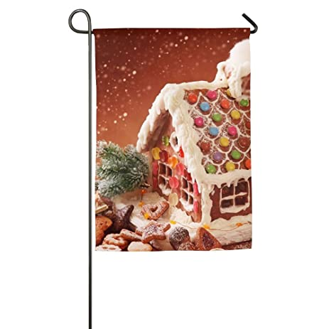 garden flag house banner 1218inchgingerbread house and christmas cookies decorative flag for wedding party - Christmas Gingerbread House Yard Decoration