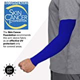 UV Protection Cooling Arm Sleeves - UPF 50 Long Sun Sleeves for Men & Women. Perfect for Cycling, Driving, Running, Basketball, Football & Outdoor