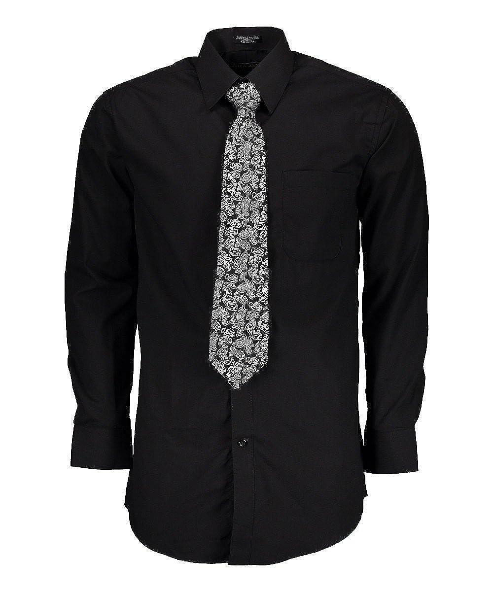 Tuscany Camisa de vestir para hombre con corbata de misterio ...