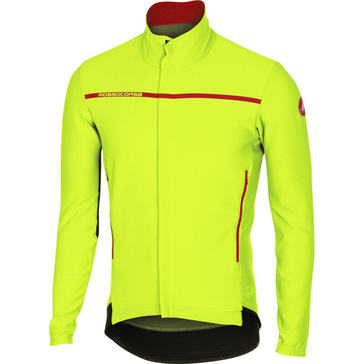 Castelli 2016 / 17メンズPerfetto長袖サイクリングジャケット – b16507 B01L2XO5WW Large|イエロー(Yellow Fluo) イエロー(Yellow Fluo) Large