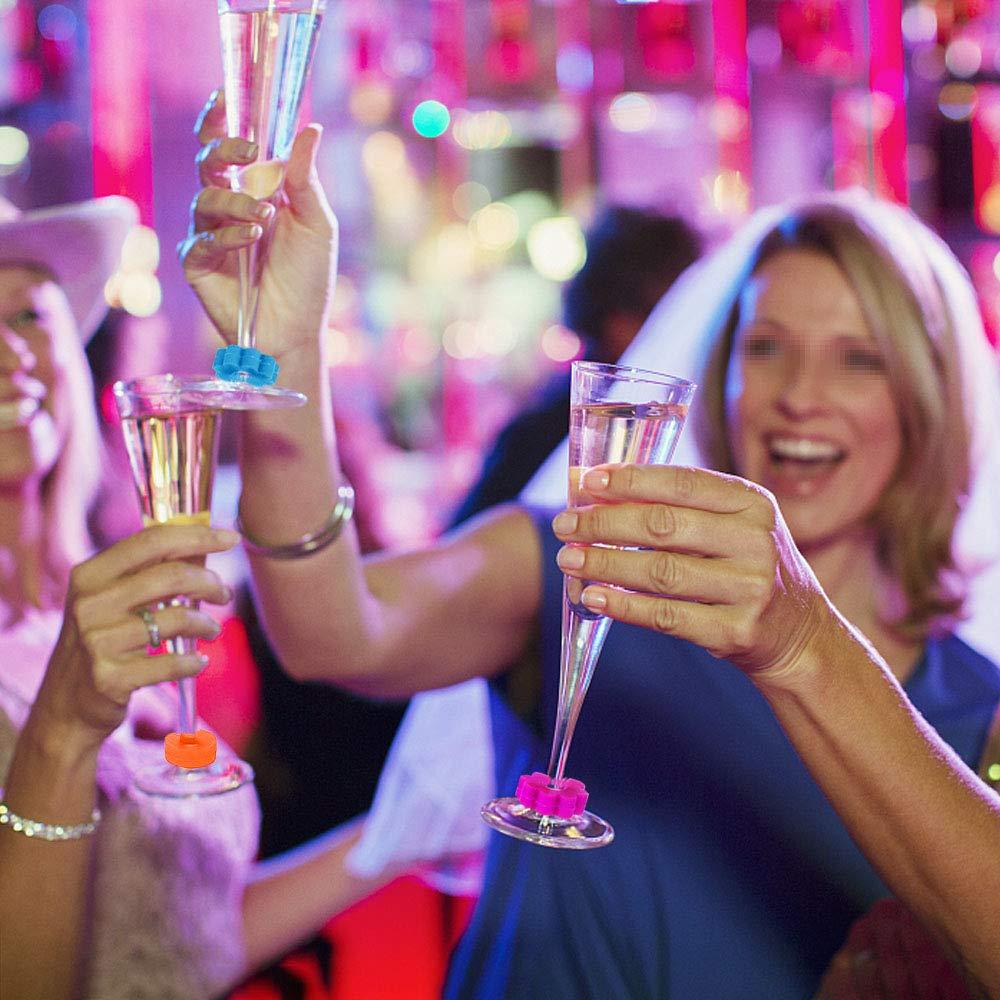 SelfTek 12/pcs colorido silicona Copa marcadores Vino Charms nuevo Identificar Taza Gafas f/ácilmente ideal para fiestas