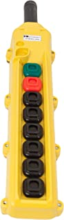 product image for KH Industries CPH08-A3D-000A 8 Push Buttons Pendant Control Switch, Momentary On/Off, 3-Two Speed