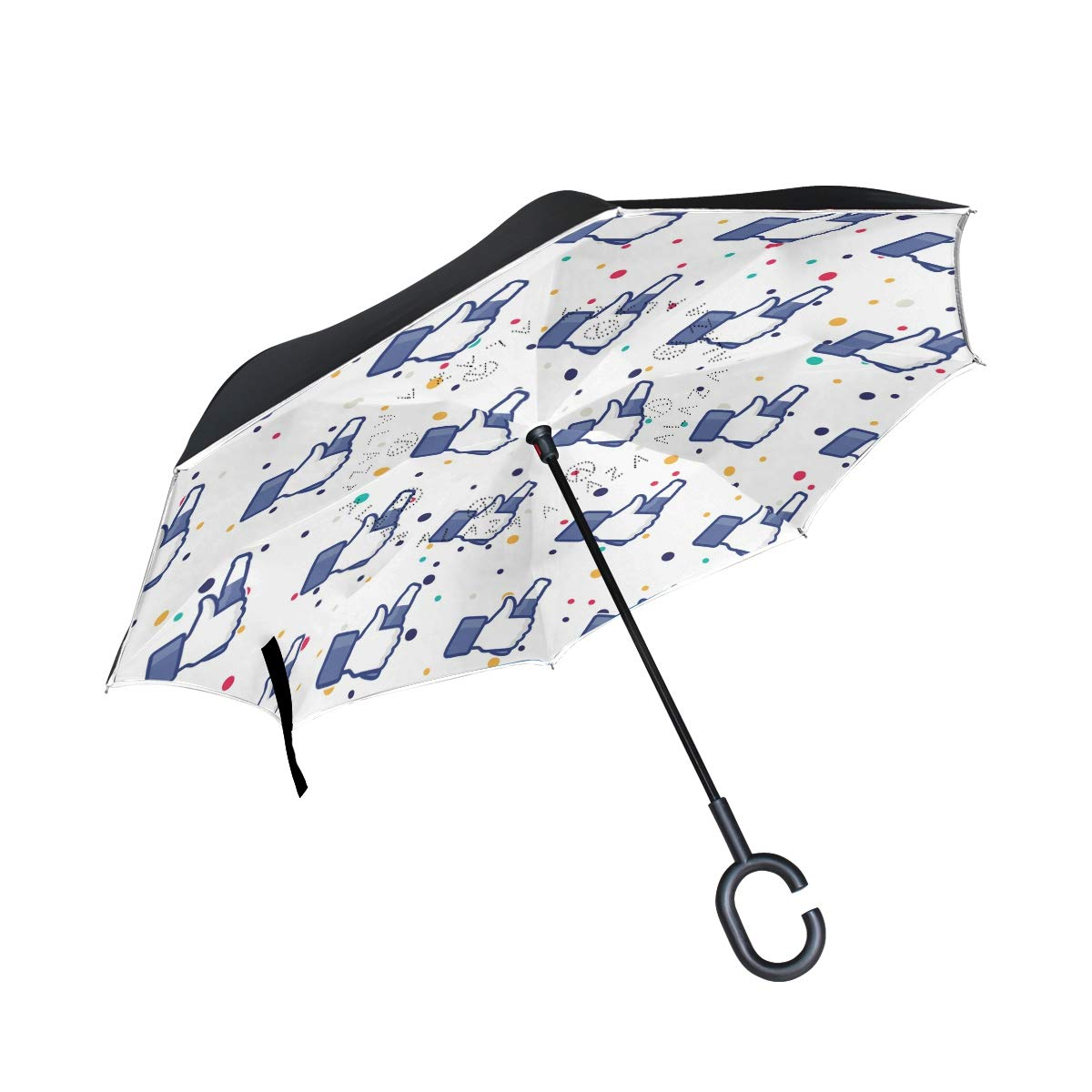 DKRetro Double Layer Fun Beer Inverted Umbrellas- Reverse Folding Umbrella for Car, C-Shaped Handle Umbrella with Light Reflection Strip by DKRetro (Image #1)