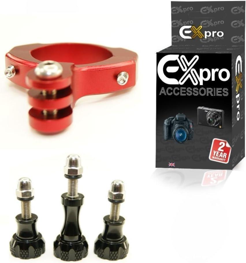 Red Ex-Pro/® Bike Motorcycle Bicycle Aluminium below Handlebar mount adapter for Gopro Cameras