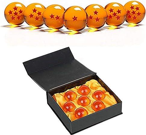 Coleccionable medio cristal estrellas bolas Dragon Ball (27,35,43,57,76MM de diámetro) (LZ001-7.6): Amazon.es: Hogar