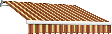 Amazon Com 16 Ft Maui Manual Retractable Awning 120 In Projection Burgundy Tan Wide Sporting Goods Garden Outdoor