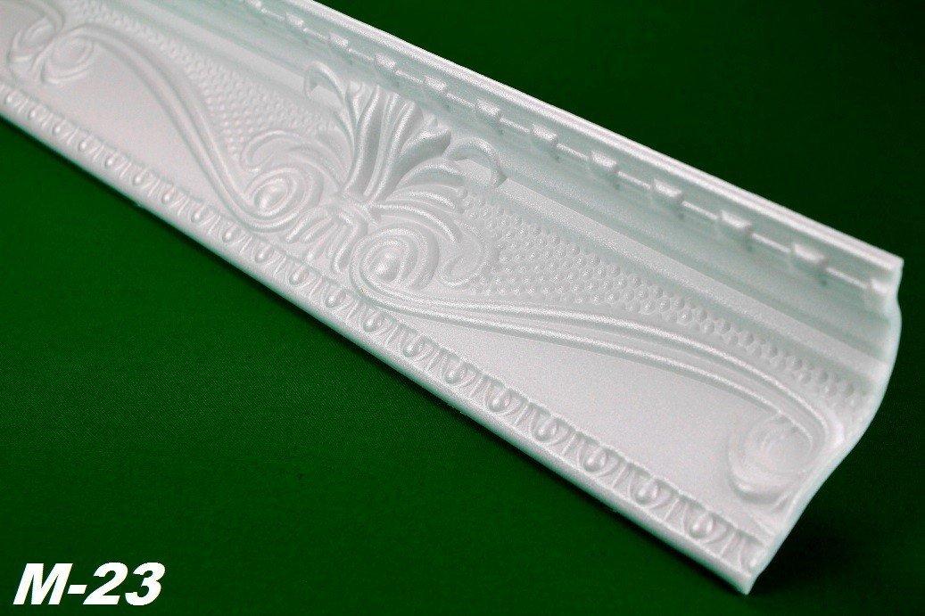 2 Meter Eckprofil Polystyrolleiste Deckenleiste Dekor Stuck 47x88mm M-23