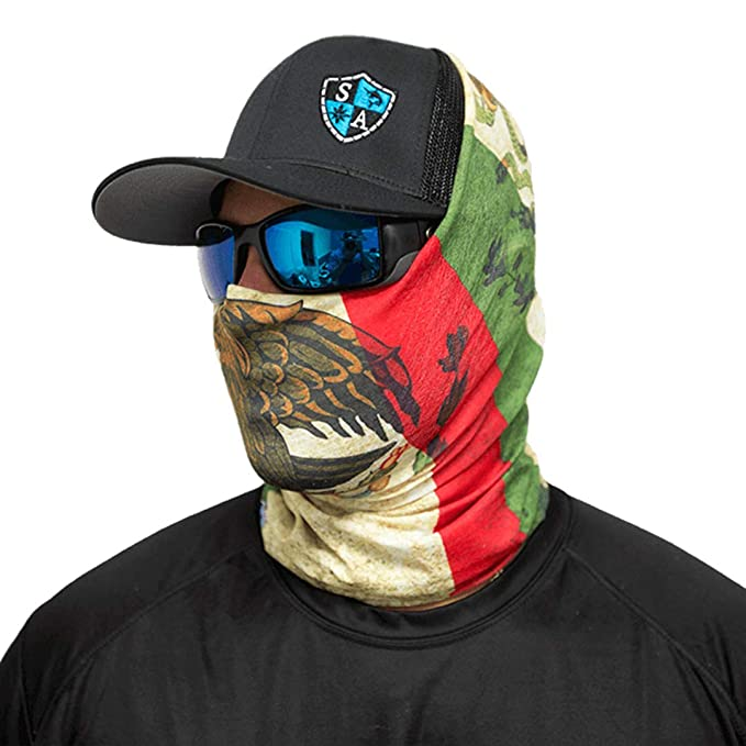 546dab933 SA Company Face Shield Micro Fiber Protect from wind, dirt and bugs. Worn  as a Balaclava, Neck Gaiter & Head band for Hunting, Fishing, Boating, ...
